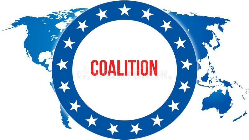 Elección en un fondo del mundo, de la coalición representación 3D Mapa del país del mundo como concepto de la situación política  ilustración del vector