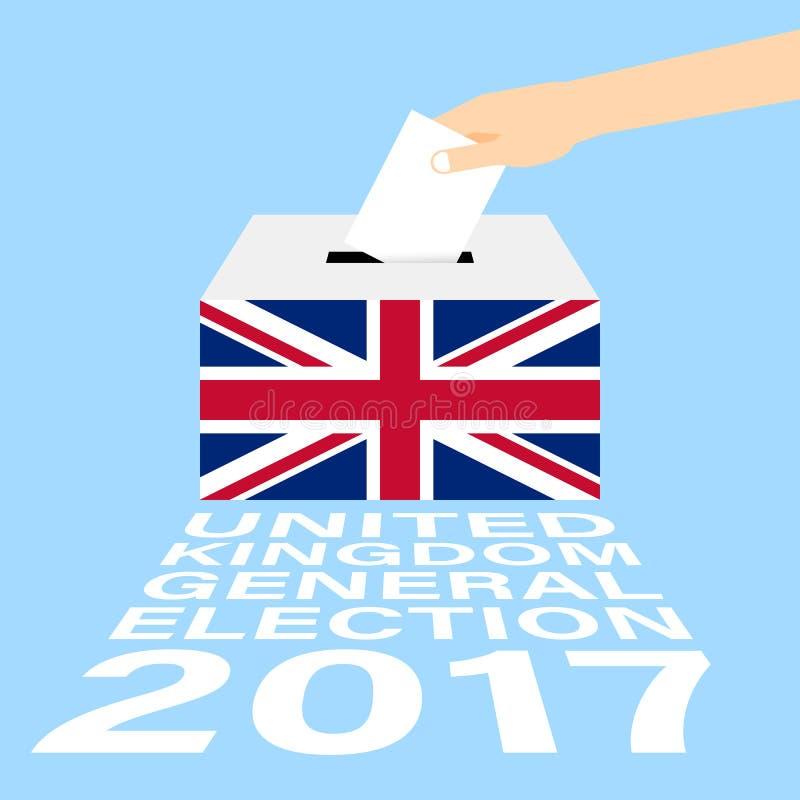 Elección general BRITÁNICA 2017 de Reino Unido ilustración del vector