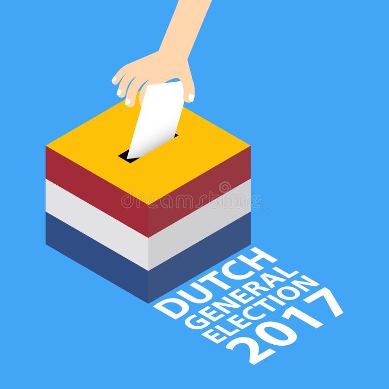 Elección general holandesa 2017 stock de ilustración