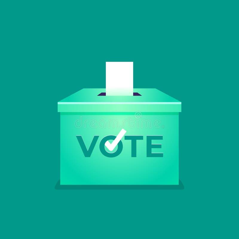 Elección general tailandesa 2019, mano que pone el papel de votación en la urna Voto de la urna Concepto del día de elección ilustración del vector