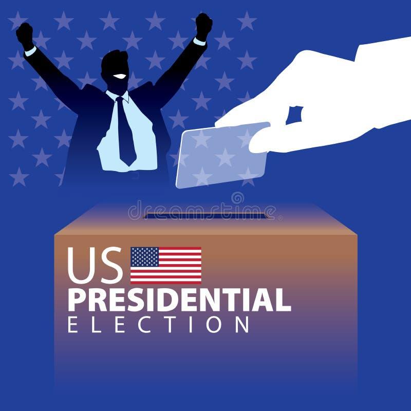 Elección presidencial 02 de los E.E.U.U. ilustración del vector