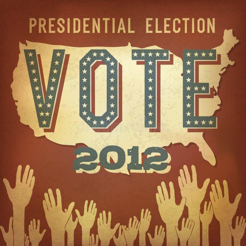 Elección presidencial 2012 ilustración del vector