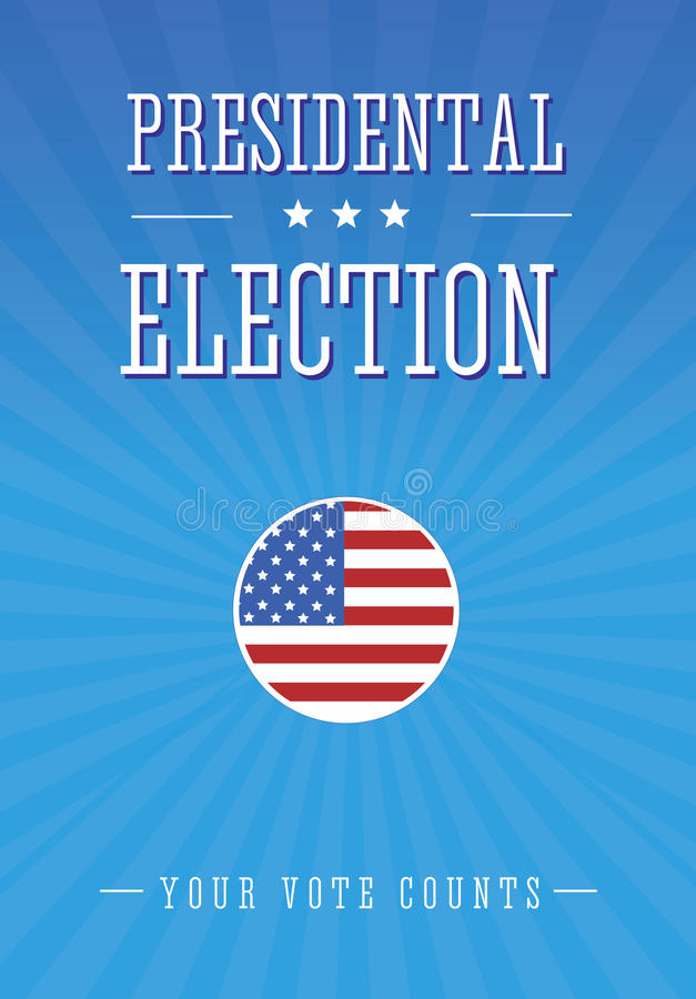 Elección presidencial ilustración del vector