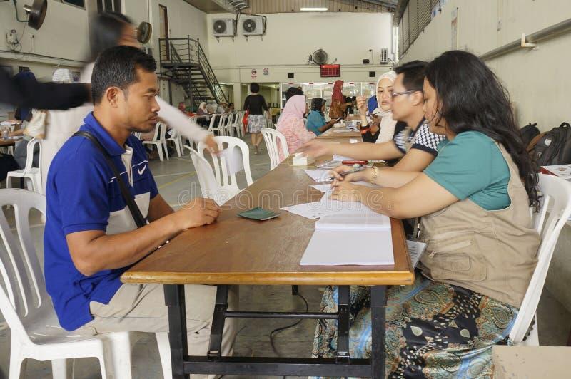 Elección presidencial 2014 de Indonesia imágenes de archivo libres de regalías