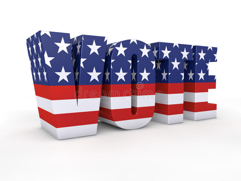 Elección presidencial de los E.E.U.U. ilustración del vector