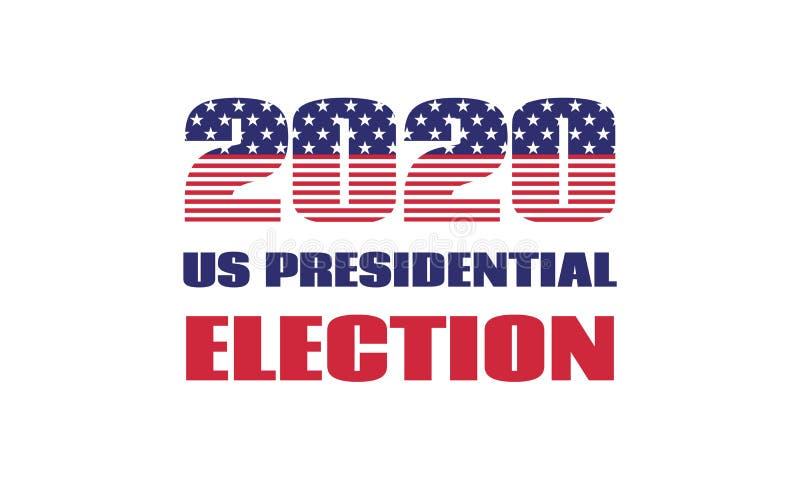 Elección presidencial de los 2020 E.E.U.U. Plantilla de la bandera del vector Aislado stock de ilustración