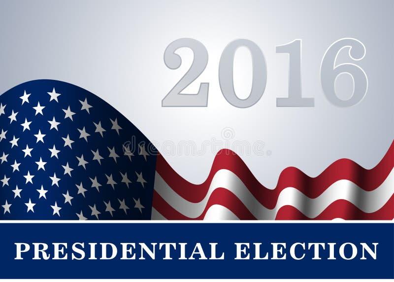 Elección presidencial del fondo de la bandera americana libre illustration