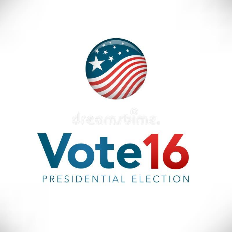 Elección presidencial del voto 16 ilustración del vector