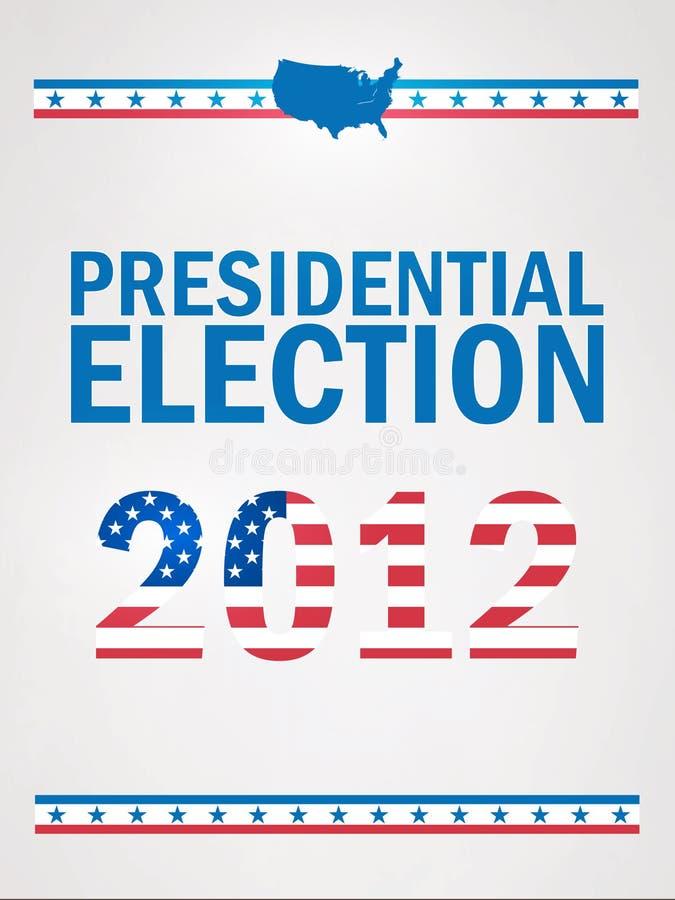 Elección presidencial en 2012 stock de ilustración
