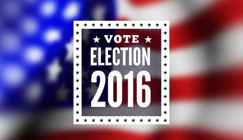 Elección presidencial en los E.E.U.U. stock de ilustración
