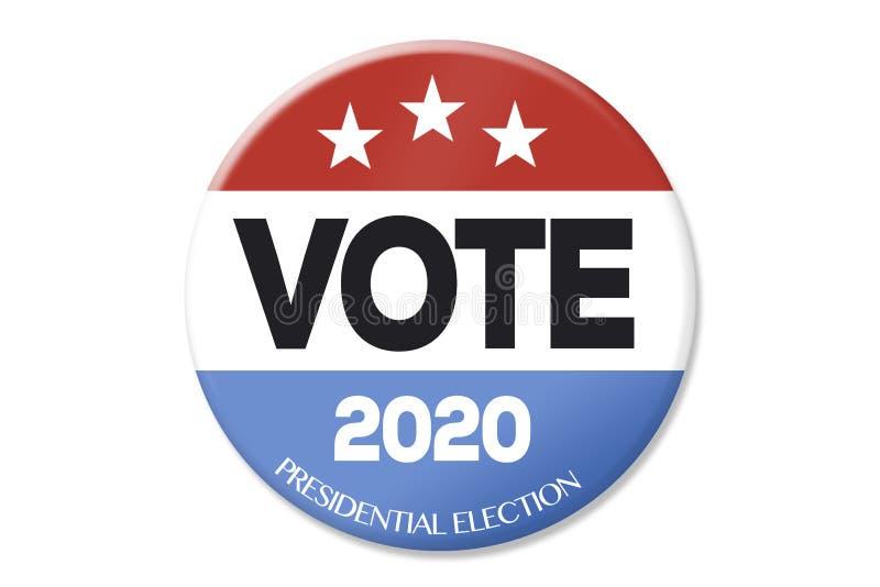 Elección presidencial 2020 stock de ilustración