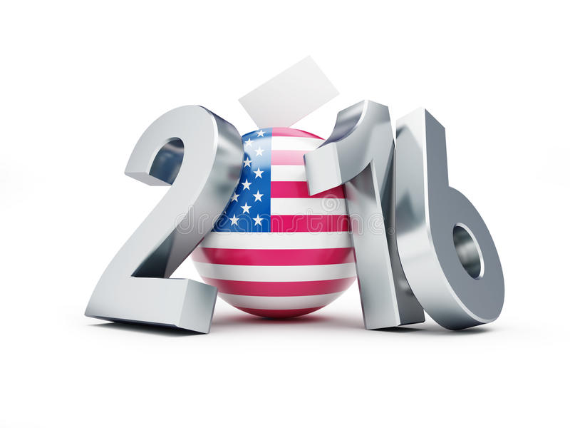 Elección presidencial los E.E.U.U. en 2016 stock de ilustración