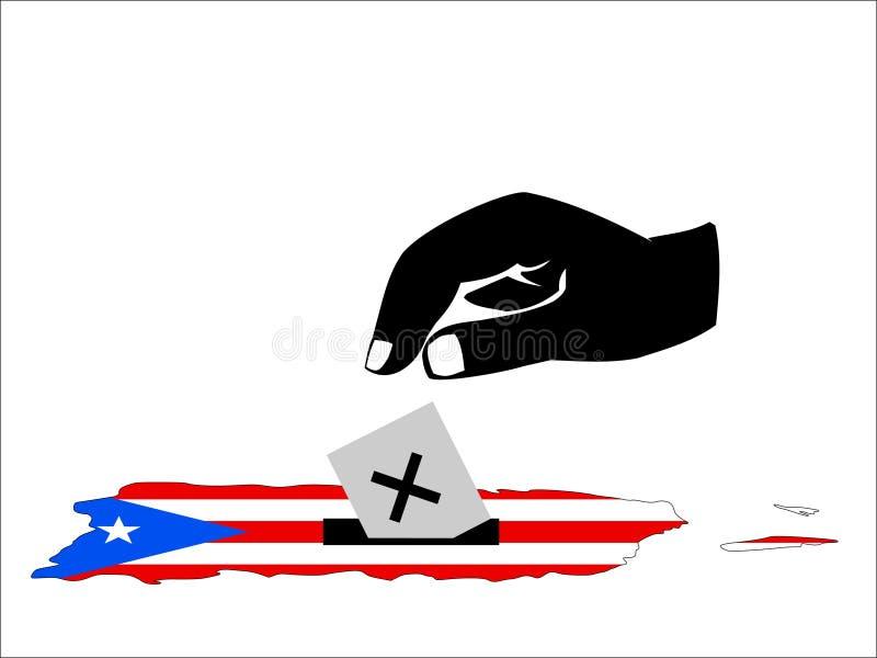 Elección puertorriqueña stock de ilustración