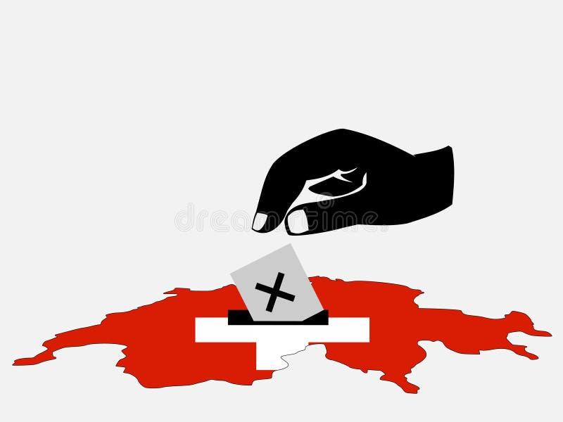 Elección suiza ilustración del vector