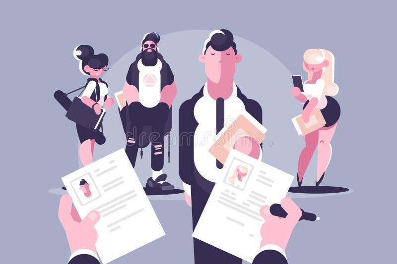 Elección y igualdad de género del candidato ilustración del vector
