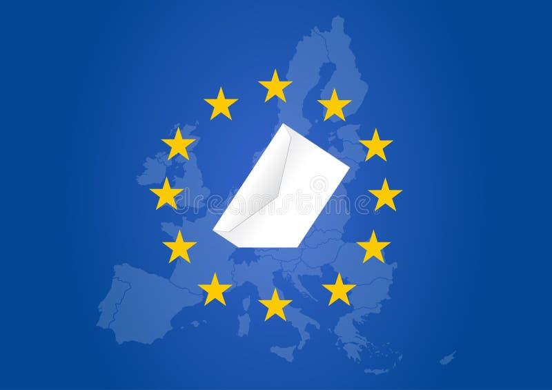 Elecci?n del Parlamento Europeo 2019 ilustración del vector