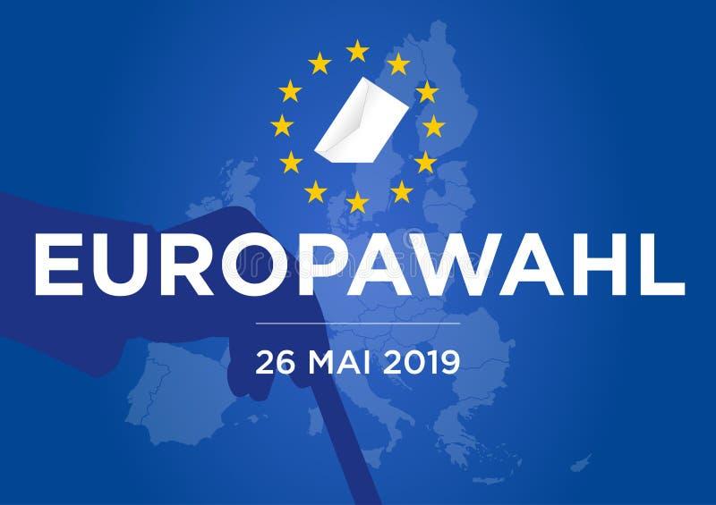 Elecci?n del Parlamento Europeo 2019 libre illustration