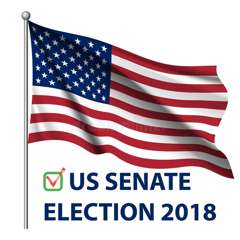 2018 elecciones de Estados Unidos Elecciones midterm 2018 de los E.E.U.U.: la raza para el congreso libre illustration