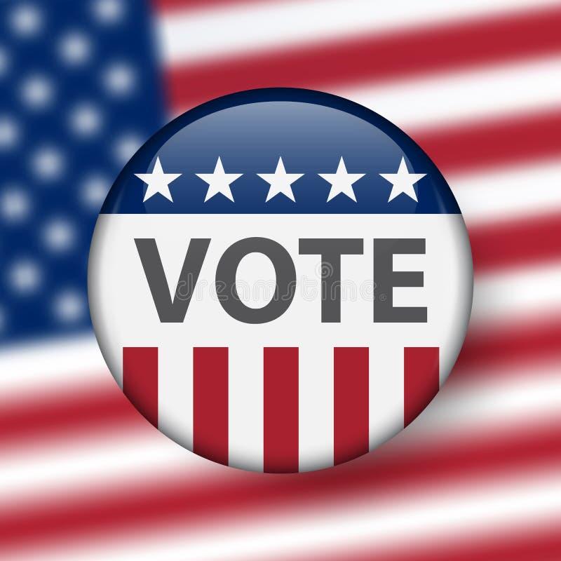 Elecciones de Estados Unidos Elecciones midterm 2018 de los E.E.U.U.: la raza para el congreso Elección Pin Button, insignia ilustración del vector