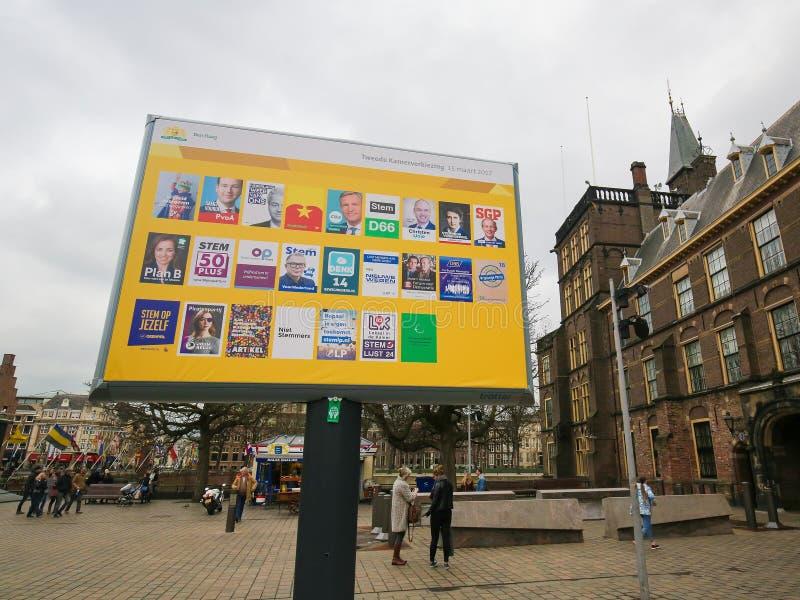Elecciones de marzo de 2017 - La Haya foto de archivo libre de regalías