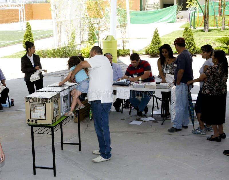 Elecciones en México fotografía de archivo libre de regalías