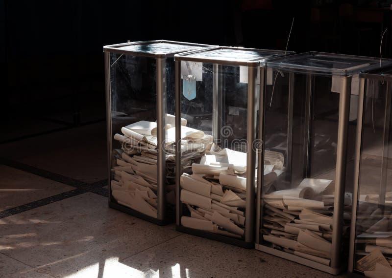Elecciones en Ucrania imagen de archivo