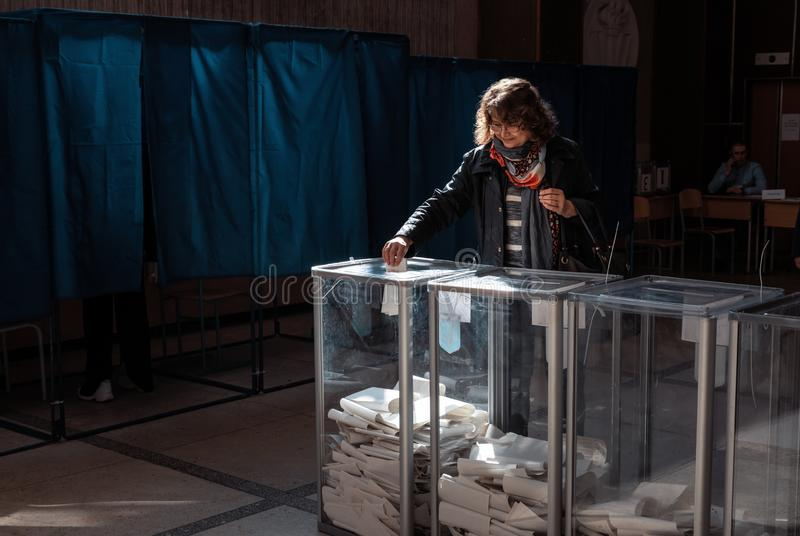 Elecciones en Ucrania imagen de archivo libre de regalías