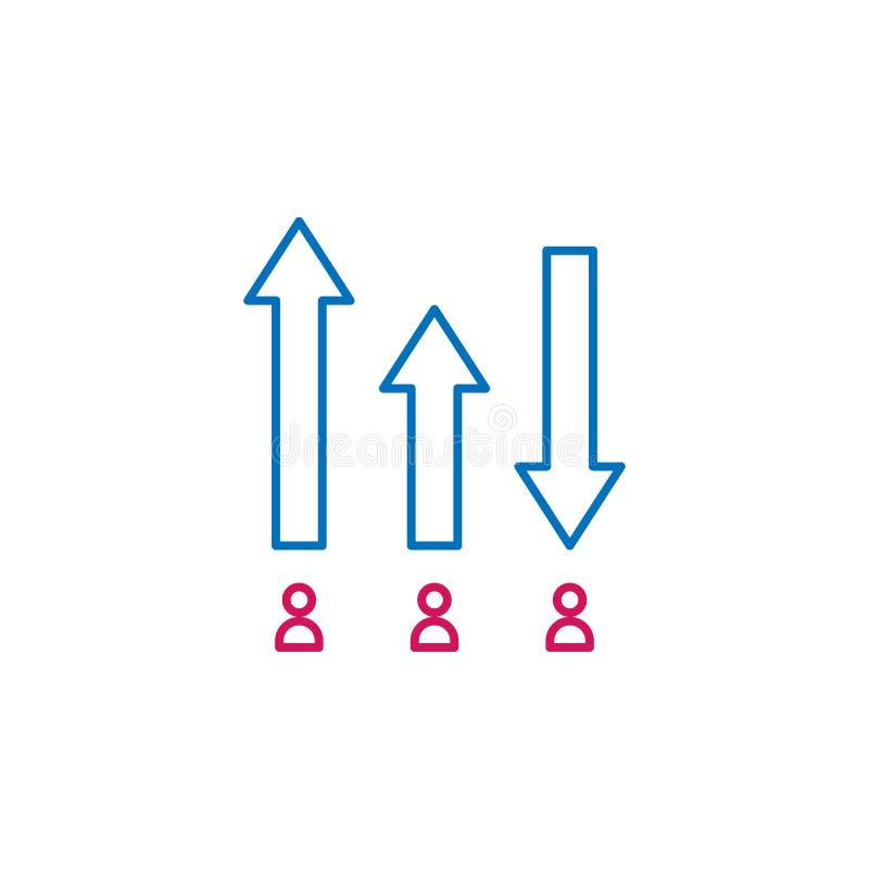 Elecciones, icono coloreado esquema de clasificación Puede ser utilizado para la web, logotipo, app móvil, UI, UX libre illustration