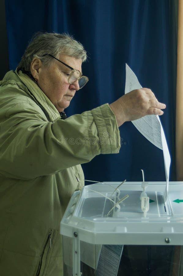 Elecciones a la Duma de estado Federación Rusa del 18 de septiembre de 2016 en la región de Kaluga imagen de archivo libre de regalías