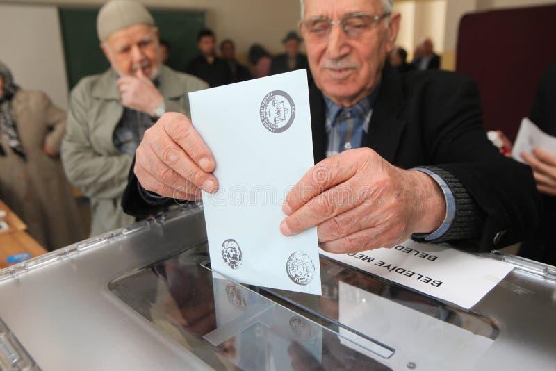 Elecciones locales en Turquía. fotografía de archivo libre de regalías