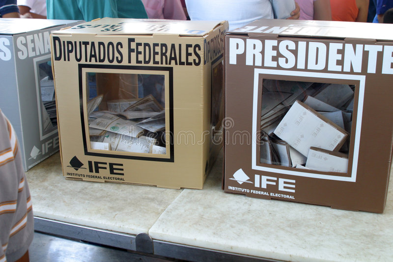 Elecciones mexicanas fotos de archivo