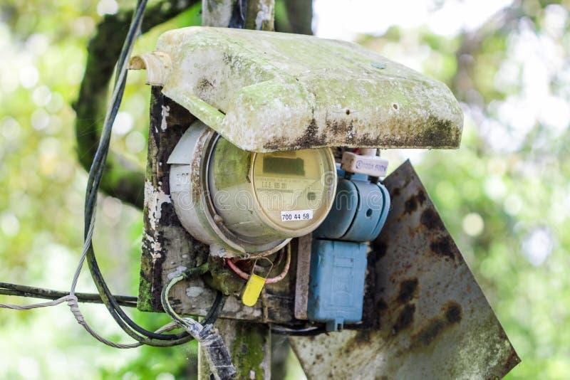 Electicity spożycia pomiaru narzędzia w Ameryka Południowa lub Ameryka Środkowa obraz stock
