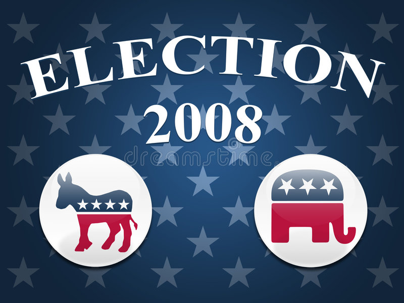 Download Election 2008 Stars Background Editorial Stock Image - Image: 4729459