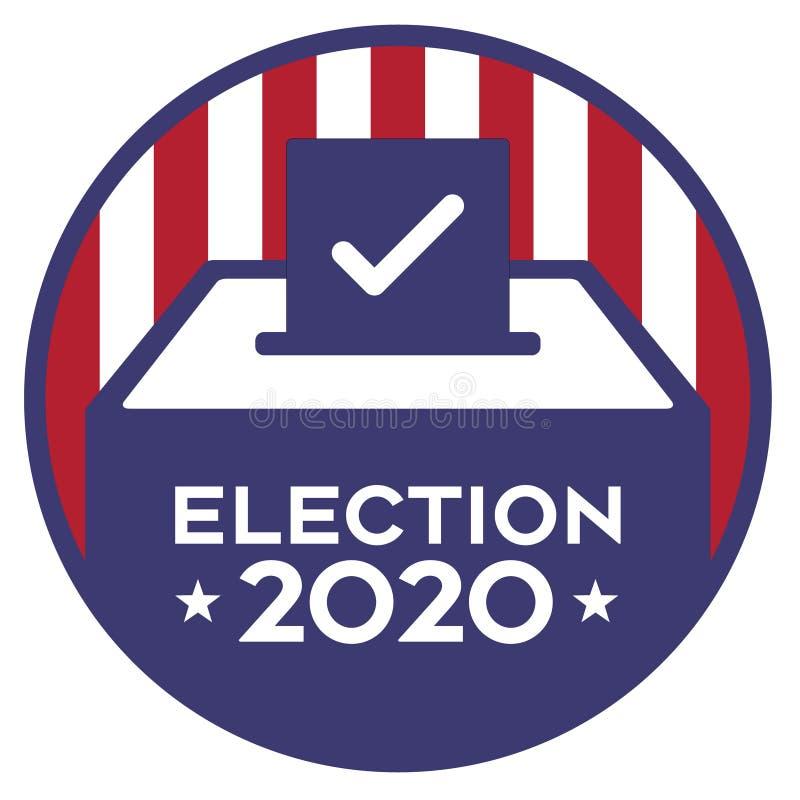 Free Election 2020 Logo Ballot Box Logo Stock Photo - 185960080