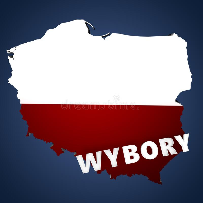 Election baner for Poland. Wybory 2020 vector illustration