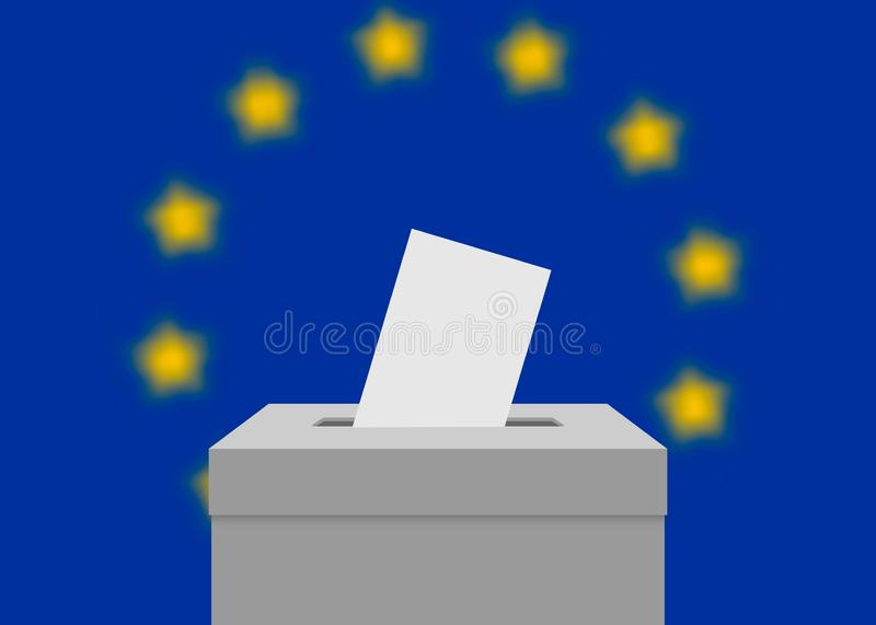 Election banner background stock illustration