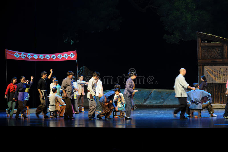The election of the budding- Jiangxi opera a steelyard. Jiangxi opera a steelyard is adapted from a true story: the last century fortys, the protagonists father royalty free stock photos