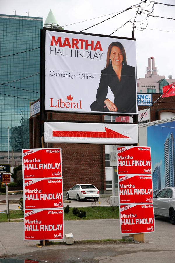 Election Canada. Liberal party candidate in Toronto for the next Canadian federal elections of May 2nd 2011 royalty free stock photo