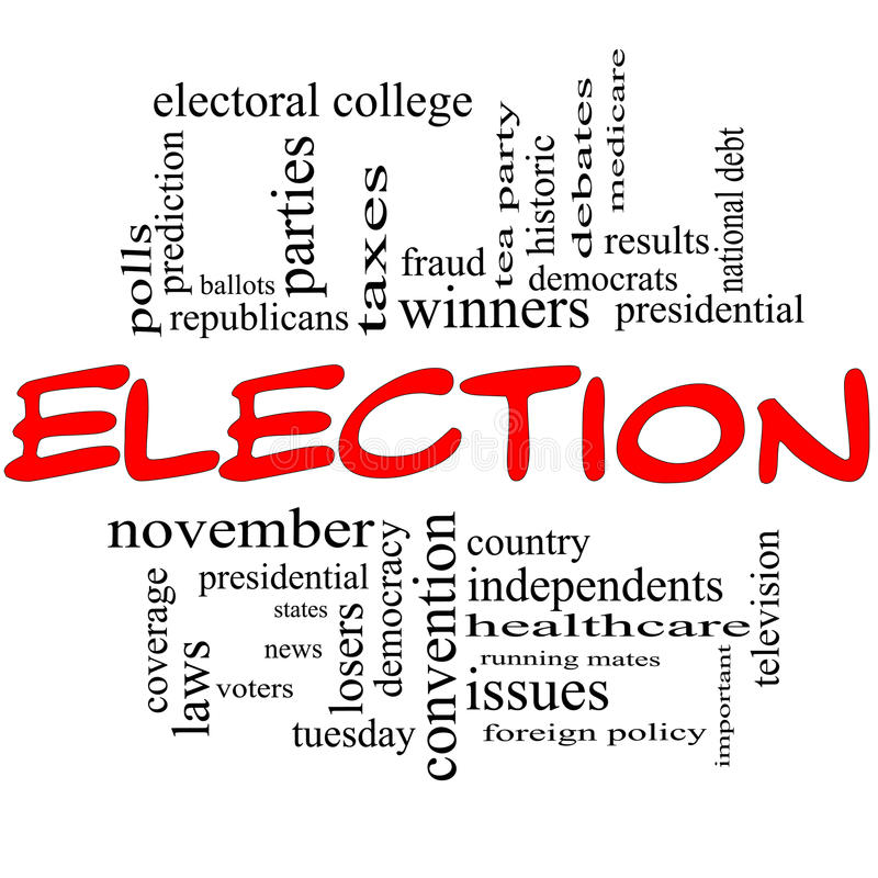 Election Concept in red and black stock illustration