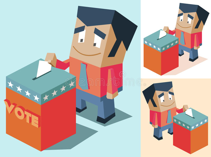 Election day royalty free illustration