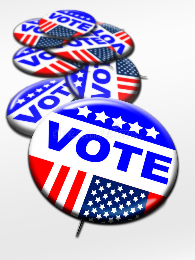 Election Day Vote Buttons Stock Photography