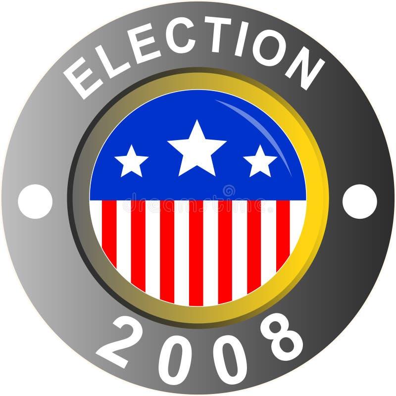 Election logo stock illustration