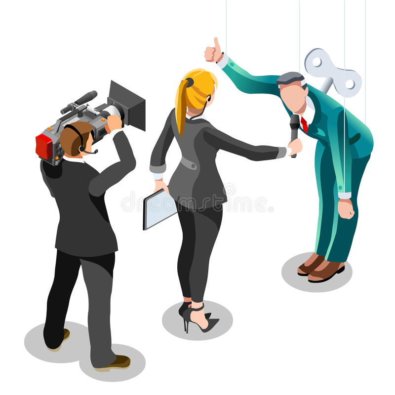 Election News Infographic Politics System Vector Isometric People stock illustration