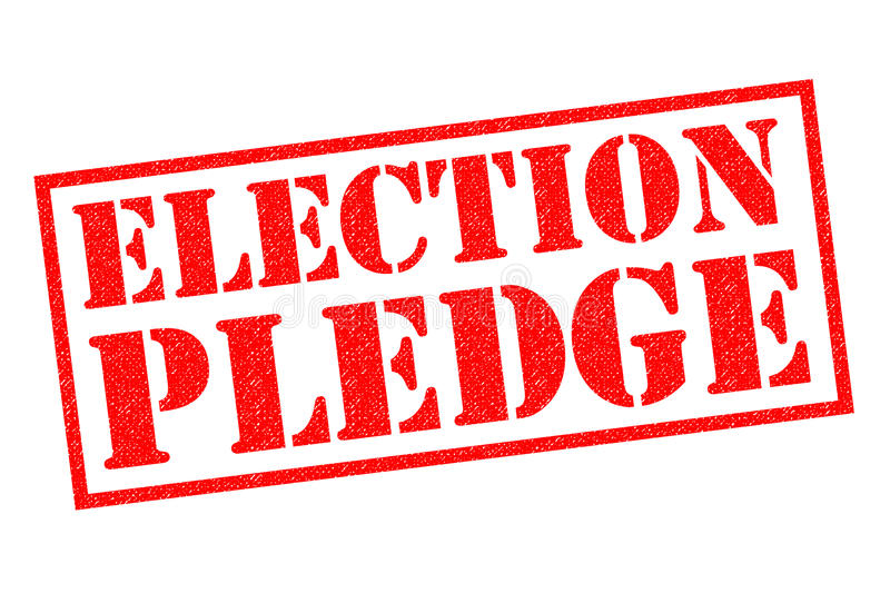 ELECTION PLEDGE Rubber Stamp. ELECTION PLEDGE red Rubber Stamp over a white background vector illustration