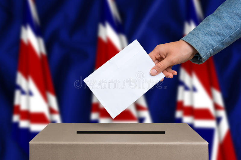 Election in United Kingdom - voting at the ballot box royalty free stock photos