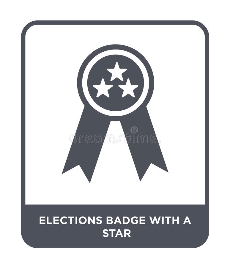 elections badge with a star icon in trendy design style. elections badge with a star icon isolated on white background. elections royalty free illustration