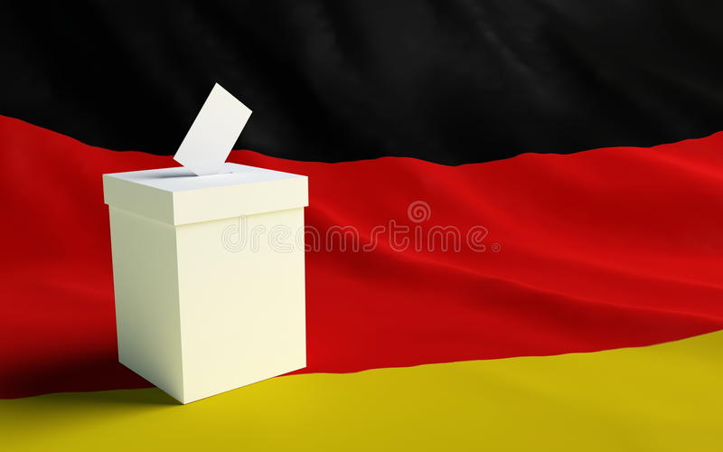 Elections germany. A pre-election company is in Germanium stock photography