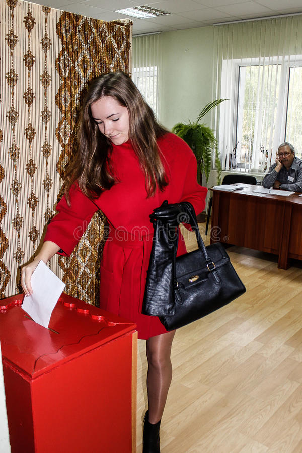 The elections in Gomel region of the Republic of Belarus. royalty free stock photography