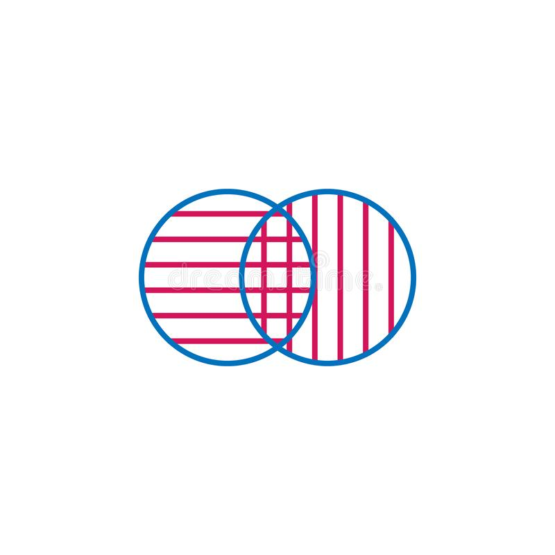 Elections, merging outline colored icon. Can be used for web, logo, mobile app, UI, UX vector illustration