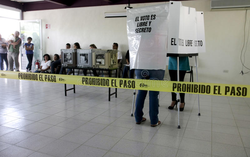 Elections in Mexico stock photography